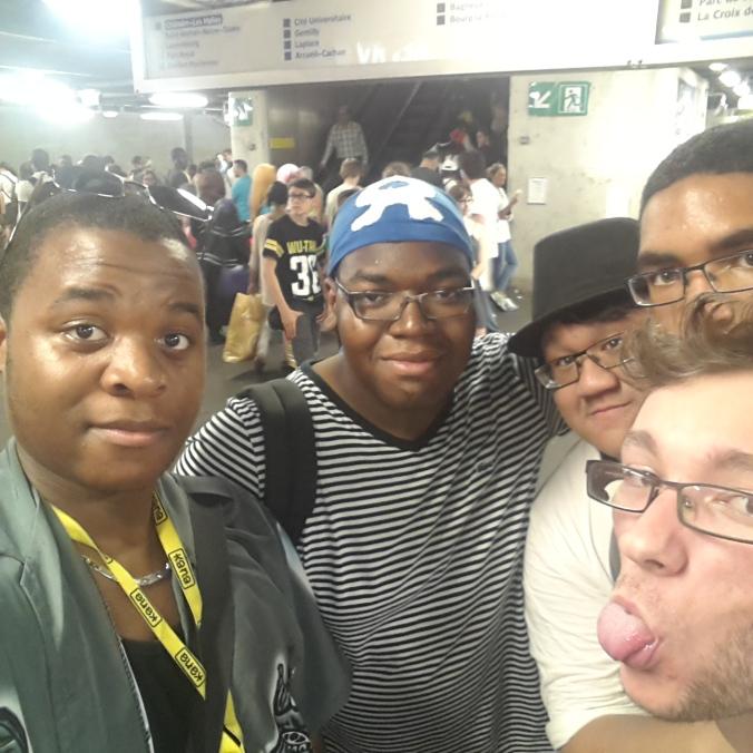 De gauche à droite, Randy (Moi), Bryan, Valentin, Seb et Calvin 8)