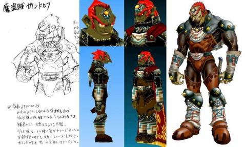 L'évolution du dessin à la modélisation 3D de Ganondorf de OOT par Takizawa
