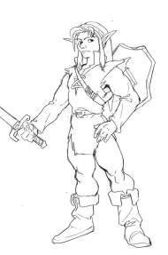 La toute première illustration de Link prévue pour Ocarina of Time par Nakano